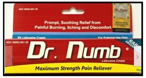 Dr Numb, 30 g, 6 tubes for $120.00