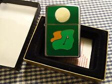 ZIPPO GOLF BALL GREEN EMBLEM LIGHTER 2002