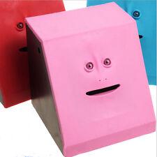 Creative Face Bank Saving Sensor Coin Money Eating Box for Kids Gifts