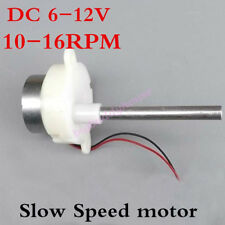 DC 6V 12V Long Shaft Motor Slow Low Speed Gear Motor Mini Geared Box 10-16RPM