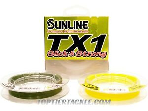 Sunline TX1 Braided Line 125 Yard Spool - Select Color/Lb. Test