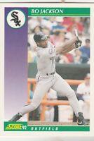 FREE SHIPPING-MINT-1992 Score Bo Jackson Chicago White Sox #361