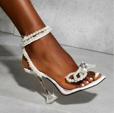 Sun Flower  Rhinestone Gladiator PVC Peep Toe Wine cup High Heel Sandals Shoes