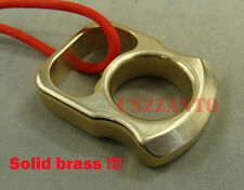 Solid brass Pocket EDC survival escape tool pendant bottle opener with lanyard