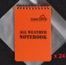 Wholesale Job Lot 24 x Waterproof Pocket Grid Camping Notebook, Doorman Pad