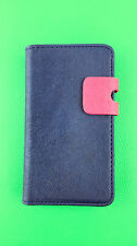 blue WALLET Leather Case Phone Cover Samsung Galaxy S2 II GT-I9100 Plain