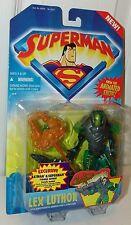 Superman Animated Show Lex Luthor w/Kryptonite Armor & Launcher 1996