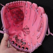 "YOUTH RAWLINGS 10"" RTB10 PLAYER SERIES BASEBALL GLOVE Pink RIGHT HAND THROW"