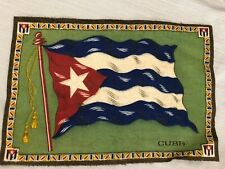 "Felt Antique Cigarette Tobacco Blanket Cuba Flag 10.5"" x 7.5"""