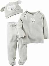 Carters Unisex Baby 3 Pc Sets 126g326, Heather, Newborn Sheep Layette