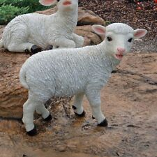 Baby Lamb Garden Statue Farm Animal Standing Sheep Figurine Classy Display Decor