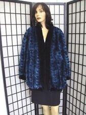 Новая норковая женская шуба,цвет синий.Размер10-12.Канадский мех.
