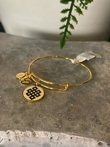 New ALEX & ANI Gold Cream Epoxy Endless Knot Bracelet NWT