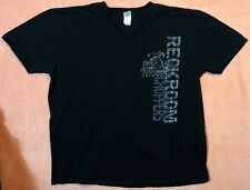 PSYCHOSIS RECKROOM CHOPPERS T-SHIRT 2XL 2-SIDED GRAPHIC V-NECK HONDA 100% COTTON