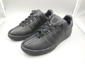 WOMEN'S SIZE 9.5 K-SWISS CLASSIC VN BLACK SNEAKERS / COMFORT SHOES / PROMPT SHIP