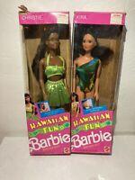 Vintage 1980-1990 Barbie Lot Mattel Hawaiian Fun Barbie Kira & Christie Beach