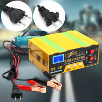 12V/24V 10A Intelligent Chargeur de Batterie Affichage LCD Display Voiture Moto