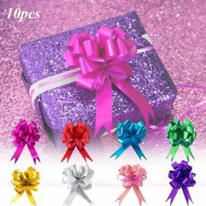 10pcs/set  Large Bow Pull Ribbon Flower For Elegant Wedding Car Gift Wrap Decor
