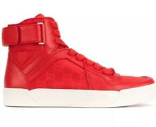 Gucci Red High Top Sneakers 6273 Size 10.5G