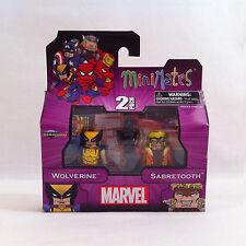 Nouveau 2012 Marvel ✧ Wolverine V Sabretooth ✧ Minimates 2-Pack série 1 En parfait état, dans sa boîte