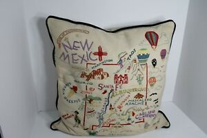"""CATSTUDIO 2001 18"""" x 18"""" Throw Pillow Land of Enchantment NEW MEXICO - Flaws"""