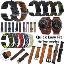 Leather Nylon Wrist Watch Band Bracelet Strap Belt for Garmin Fenix 3 HR 5 5X 5S