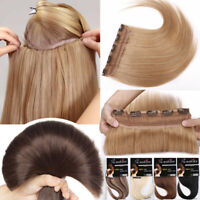Clip In Real Remy 100% Human Hair Extensions 3/4 Full Head Long Medium Short US