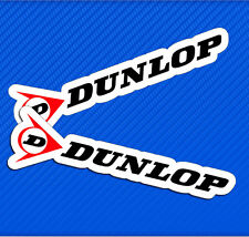 2 Vinyl Stickers Auto Motorcycle Race Rally Sport Dunlop Tires Car Bike Tuning