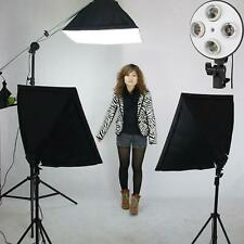Continuous Lighting 135W Kit Softbox Studio Photography Light Stand Photo UK