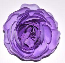 "3"" Purple Violet Ranunculus Silk Flower Hair Clip Wedding Bridesmaid Prom Party"