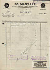 DRESDEN-A. 19, Rechnung 1935, EG-GÜ-Wachswerke Günther`s Söhne G.m.b.H.