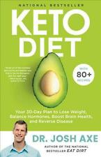 Keto Diet By Dr. Josh Axe Hardcover Brand New Book 80 Recipes Diet Pan WT76089
