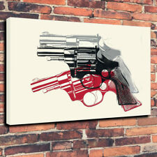 "POP ART ANDY WARHOL Pistols STAMPA FOTO SU TELA A1.30""x20"" 30 mm Deep KICK ASS"