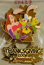 Dlr Disneyland Resort 2006 Thanksgiving Pin Jessica & Roger Rabbit - Pp #50629