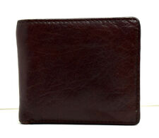 Savile Row Company Mens Bifold Leather Wallet Brown
