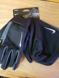 NIKE Therma Running Hat and Glove Set L / XL - Large / X-Large Black Reflective