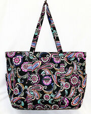 NWOT VERA BRADELY Get Carried Away XLarge Tote 15828 Bandana Swirl Black Multi