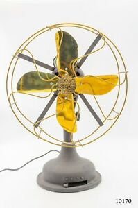 """Antique GE Electric Fan Handmade 18"""" Rare Collectibles 3 Speed 4 Blades Table Fa"""