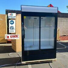 New Commercial Glass Sliding Two Door Merchandiser Display Refrigerator Nsf