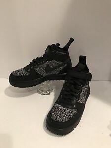 Nike Women's LF1 Flyknit Workboot Air Lunar Force 1 Black Oreo Shoes 860558-001