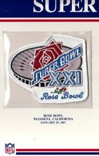 1987 SUPER BOWL XXI PATCH ONLY NY NEW YORK GIANTS DENVER BRONCOS WILLABEE WARD