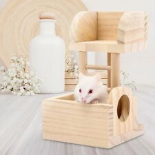 2 In 1 Cage Ladder Accessories Sleeping Wood Hamster Toy Climbing Playing