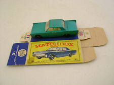 MATCHBOX LESNEY #31 BLUE LINCOLN CONTINENTAL BPW-R/A WITH ORIGINAL BOX