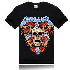 New Men/Womens 3D Print t shirt rock metallica Short Sleeve Top loose fit Cotton