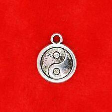 6 x tibétain argent yin yang taijitu charme pendentifs fabrication de bijoux
