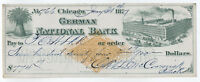1877 Chicago IL McCormick Reapers German National Bank vignetted RN-G1 [y2891]