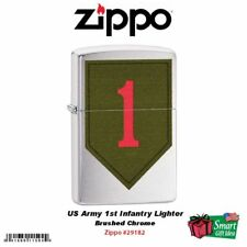 Zippo US Army 1st Infantry Lighter, Brushed Chrome #29182