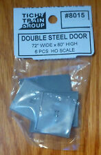 Tichy Train Group HO #8015 Double Steel Structure Door pkg(6)
