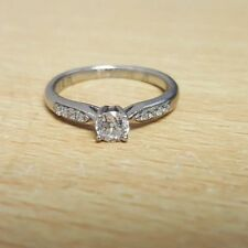 Palladium Forever Diamond Solitaire Ring Size H 1.99G REDUCED! OL 85082
