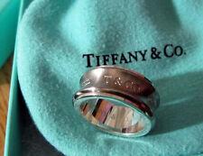 Tiffany & Co. Galaxy Gray Titanium Ring TI NY 1837 Grey Size 6.25 Silver 925